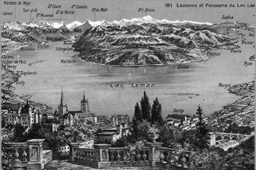 Crossing the Geneva lake