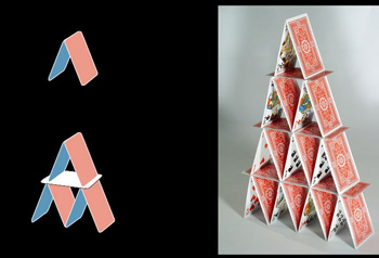 Monthly maths problem from RTSdécouverte - House of cards