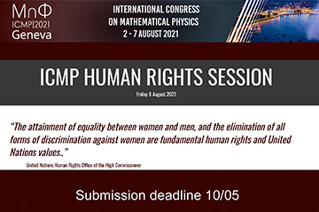ICMP Human Rights Session will be dedicated to Equal Opportunities