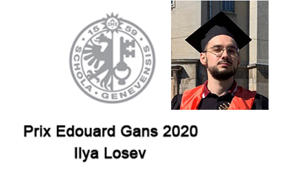 Ilya Losev receives the Edouard Gans 2020 Prize
