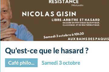 Public debate with Nicolas Gisin in Geneva