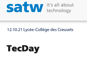 We will be at TecDay in Sion