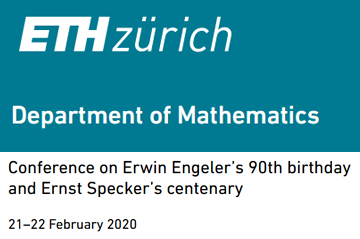 Jürg Fröhlich's presentation slides: A theorist remembers Ernst Specker and tries to assess his ideas on quantum mechanics