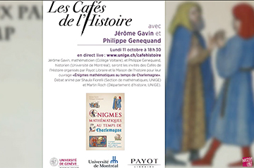 "Video of the discussion on the book ""Enigmes Mathématiques au temps de Charlemagne"" now online"