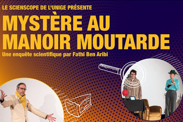 Scienscope's theatre play, Mystery at the Mustard Mansion on stage at CERN