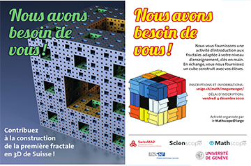 We need you to build the first ever Menger Sponge in Switzerland!