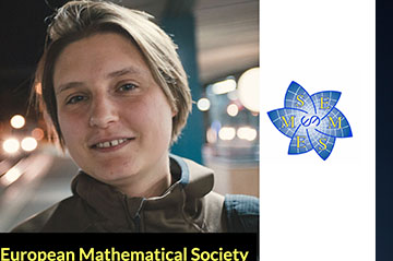 Maryna Viazovska (EPFL) receives 2020 European Mathematical Society Prize